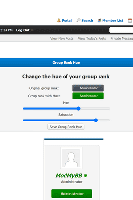 Usergroup Rank Hue 2.0.1